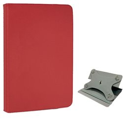 Funda Ebook Tablet 10 Pulgadas Polipiel Giratoria Roja