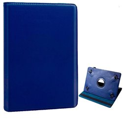 Funda Ebook Tablet 10 pulgadas Polipiel Giratoria Azul