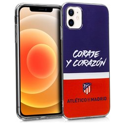 Carcasa iPhone 12 mini Licencia Fútbol Atlético De Madrid