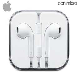 Auriculares Apple (Jack 3,5 mm) Original iPhone 5 / 5s / 6 / 6 Plus (Sin Blister)